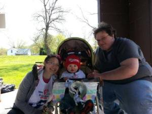 Jenny, Brian and Ken at the 2013 Richland Center Promise Walk.